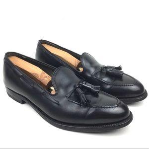 Alden 660 tassel loafer black leather dress shoe